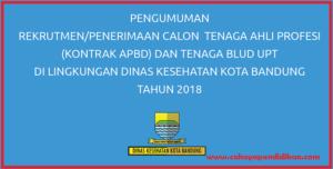Rekrutmen Calon Tenaga Kontrak Dinas Kesehatan Kota Bandung 2018