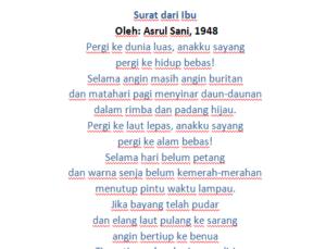 Puisi yaitu teks atau karangan yang mengungkapkan pikiran dan perasaan dengan mengutamakan keindahan kata-kata.