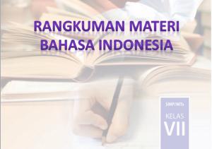 angkuman Bab 1 Materi Bahasa Indonesia Kelas 7 Belajar Mendeskripsikan