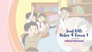 Soal UAS Kelas 4 tema-1 Indahnya Kebersamaan