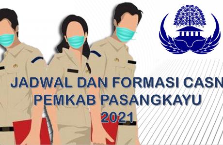 Jadwal dan Formasi CPNS-PPPK Pemkab Pasangkayu 2021