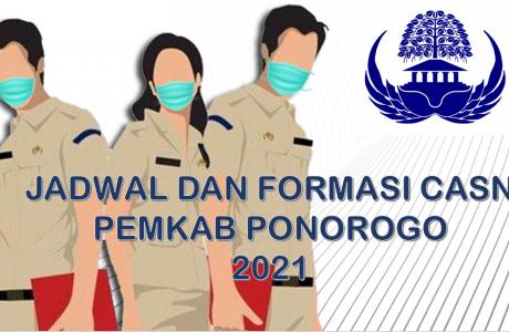 Jadwal dan Formasi CPNS-PPPK Pemkab Ponorogo 2021