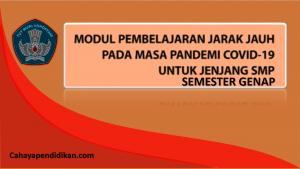 Modul PJJ SMP Semester 2 Pada Masa Covid-19