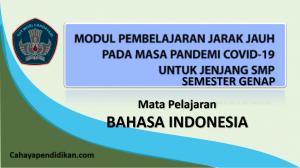 Modul PJJ Bahasa Indonesia SMP Semester 2 Pada Masa Covid-19