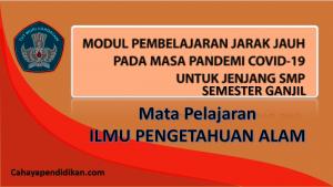 Modul PJJ IPA SMP Semester 1 Pada Masa Covid-19