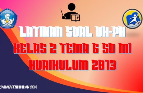 Latihan Soal UH-PH Kelas-2 Tema-6 Subtema 1, 2, 3, 4 Dengan Kunci Jawaban Kurikulum 2013