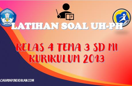 Latihan Soal UH-PH Kelas-4 Tema-3 Subtema 1, 2, 3 Dengan Kunci Jawaban Kurikulum 2013