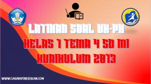 Latihan Soal UH-PH Kelas-1 Tema-4 Subtema 1, 2, 3, 4 Dengan Kunci Jawaban Kurimulum 2013