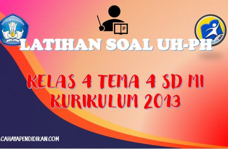 Latihan Soal UH-PH Kelas-4 Tema-4 Subtema 1, 2, 3 Dengan Kunci Jawaban Kurikulum 2013