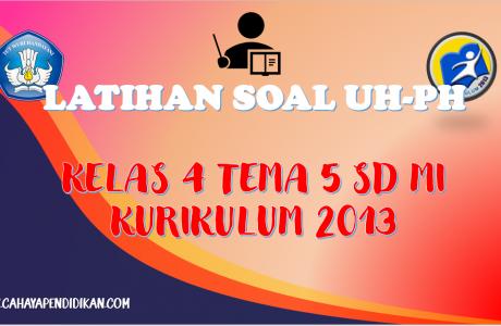 Latihan Soal UH-PH Kelas-4 Tema-5 Subtema 1, 2, 3 Dengan Kunci Jawaban Kurikulum 2013