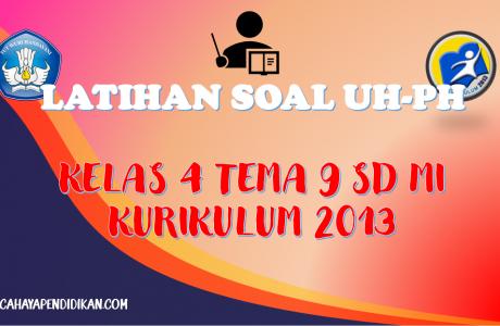 Latihan Soal UH-PH Kelas-4 Tema-9 Subtema 1, 2, 3 Dengan Kunci Jawaban Kurikulum 2013